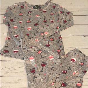 Women wine pajama set